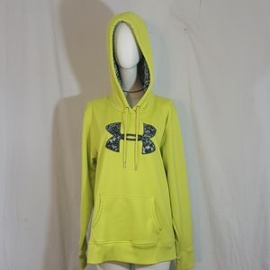 Under armour storm1 neon yellow sweater L size